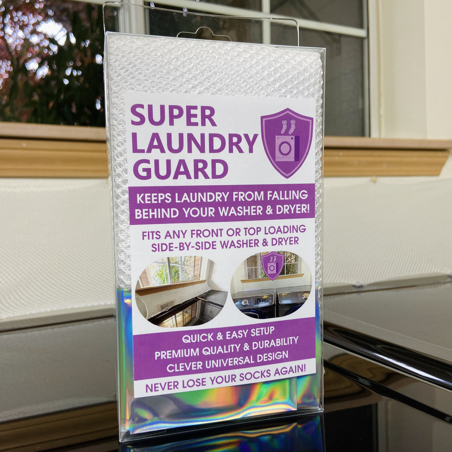 Super Laundry Guard Keeps Clothes from Falling Behind Washer Dryer Laundry Room Laundry Accessory