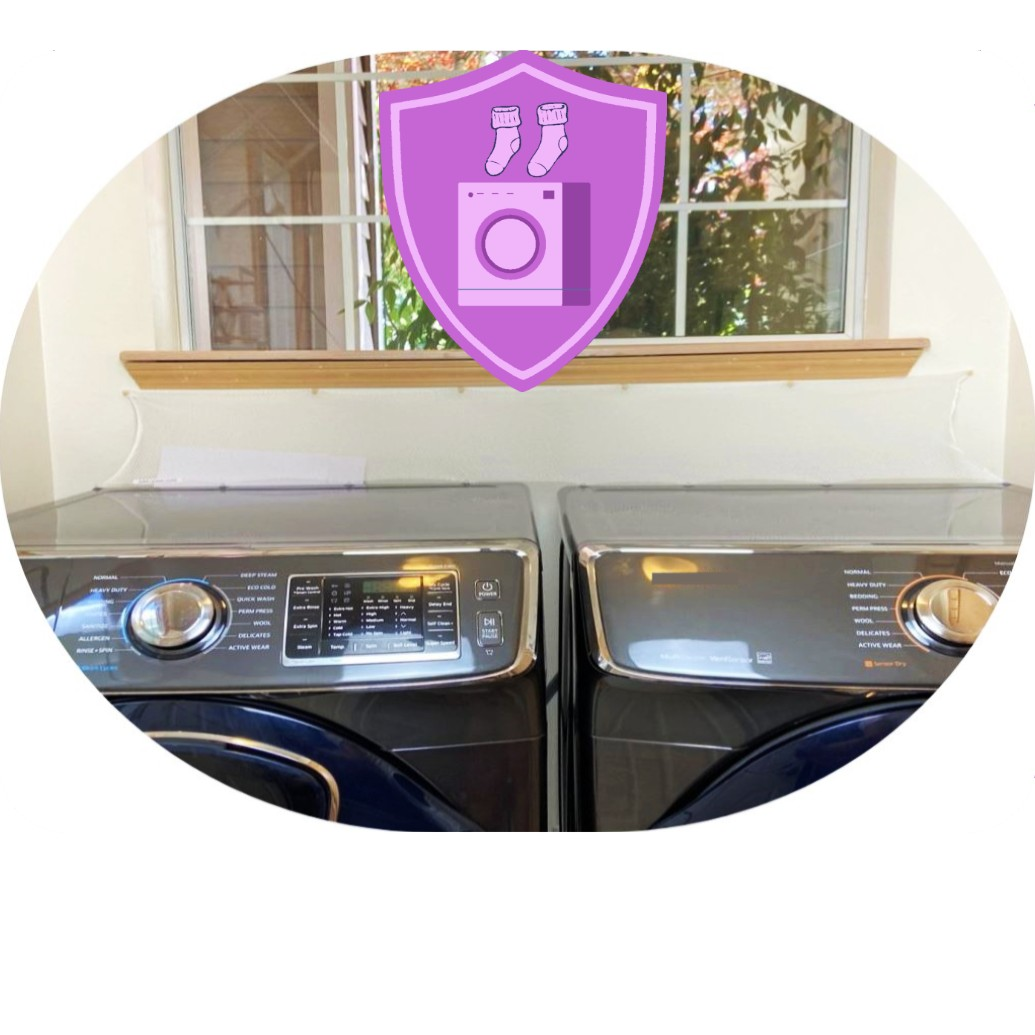 Super Laundry Guard Laudnry Washer Dryer Accessory Launry Room Protect from Falling In Gap Behind Washer Dryer Side by side (1)