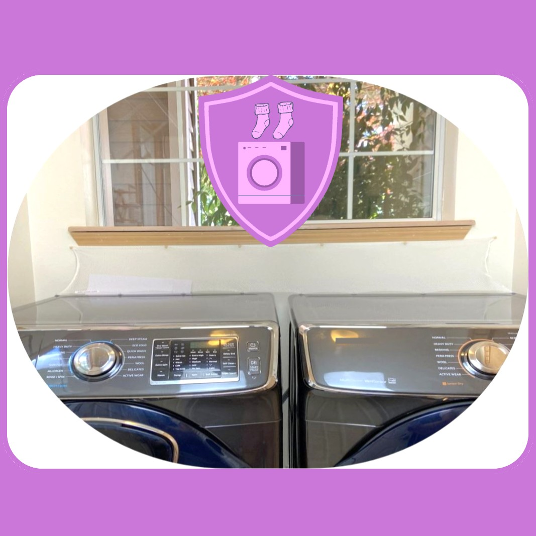 Super Laundry Guard Laudnry Washer Dryer Accessory Launry Room Protect from Falling In Gap Behind Washer Dryer Side by side